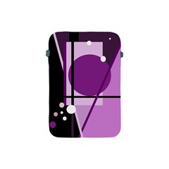 Purple geometrical abstraction Apple iPad Mini Protective Soft Cases