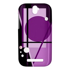 Purple geometrical abstraction HTC One SV Hardshell Case