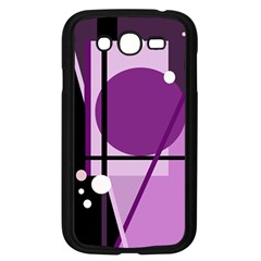 Purple geometrical abstraction Samsung Galaxy Grand DUOS I9082 Case (Black)