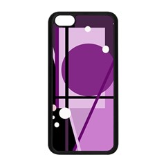 Purple geometrical abstraction Apple iPhone 5C Seamless Case (Black)