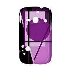 Purple geometrical abstraction Samsung Galaxy S6310 Hardshell Case