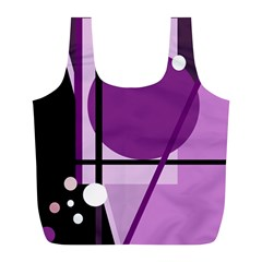 Purple geometrical abstraction Full Print Recycle Bags (L)