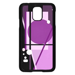 Purple geometrical abstraction Samsung Galaxy S5 Case (Black)