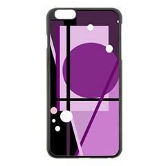 Purple geometrical abstraction Apple iPhone 6 Plus/6S Plus Black Enamel Case