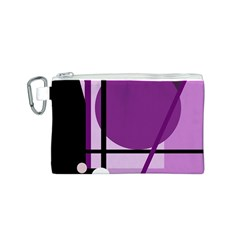 Purple geometrical abstraction Canvas Cosmetic Bag (S)