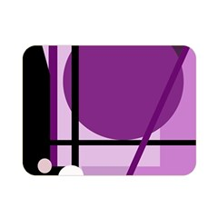 Purple geometrical abstraction Double Sided Flano Blanket (Mini)