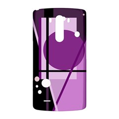 Purple geometrical abstraction LG G3 Back Case