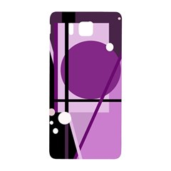Purple geometrical abstraction Samsung Galaxy Alpha Hardshell Back Case