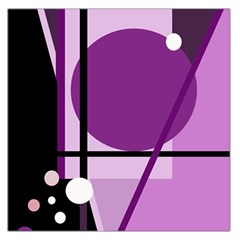 Purple geometrical abstraction Large Satin Scarf (Square)