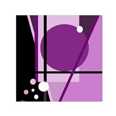 Purple geometrical abstraction Small Satin Scarf (Square)