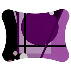 Purple Geometrical Abstraction Jigsaw Puzzle Photo Stand (bow)