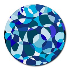 Blue abstraction Round Mousepads