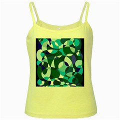 Blue abstraction Yellow Spaghetti Tank