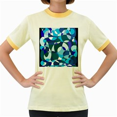 Blue abstraction Women s Fitted Ringer T-Shirts