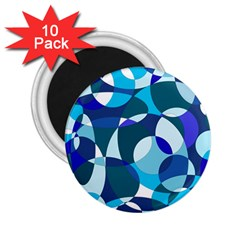 Blue abstraction 2.25  Magnets (10 pack)