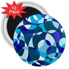Blue abstraction 3  Magnets (10 pack)