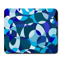 Blue abstraction Large Mousepads