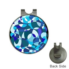 Blue abstraction Hat Clips with Golf Markers