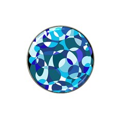 Blue abstraction Hat Clip Ball Marker