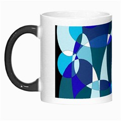 Blue abstraction Morph Mugs