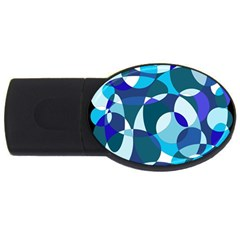 Blue abstraction USB Flash Drive Oval (4 GB)