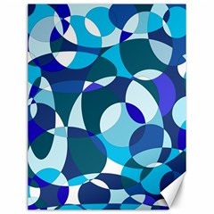 Blue abstraction Canvas 12  x 16