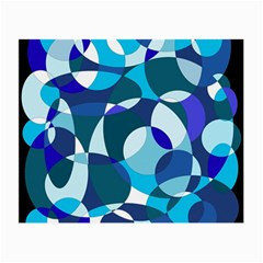 Blue abstraction Small Glasses Cloth (2-Side)