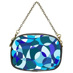 Blue abstraction Chain Purses (Two Sides)