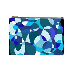 Blue abstraction Cosmetic Bag (Large)