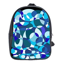 Blue abstraction School Bags(Large)