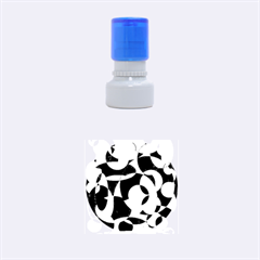 Blue abstraction Rubber Round Stamps (Small)