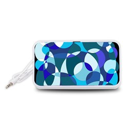 Blue abstraction Portable Speaker (White)