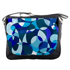 Blue abstraction Messenger Bags