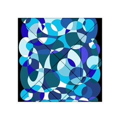 Blue abstraction Acrylic Tangram Puzzle (4  x 4 )