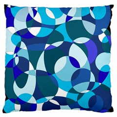 Blue abstraction Large Cushion Case (Two Sides)