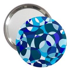 Blue abstraction 3  Handbag Mirrors