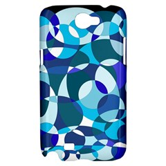 Blue abstraction Samsung Galaxy Note 2 Hardshell Case