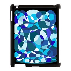 Blue abstraction Apple iPad 3/4 Case (Black)