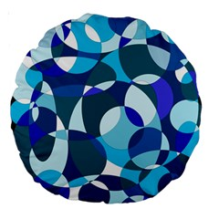Blue abstraction Large 18  Premium Round Cushions