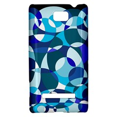 Blue abstraction HTC 8S Hardshell Case