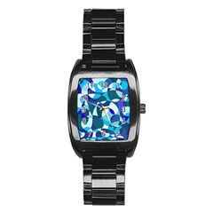 Blue abstraction Stainless Steel Barrel Watch