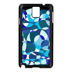 Blue abstraction Samsung Galaxy Note 3 N9005 Case (Black)