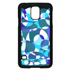Blue abstraction Samsung Galaxy S5 Case (Black)