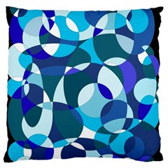 Blue abstraction Large Flano Cushion Case (Two Sides)