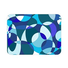 Blue abstraction Double Sided Flano Blanket (Mini)