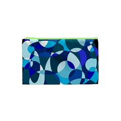 Blue abstraction Cosmetic Bag (XS)