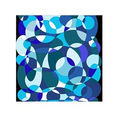 Blue abstraction Small Satin Scarf (Square)