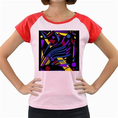 Optimistic abstraction Women s Cap Sleeve T-Shirt