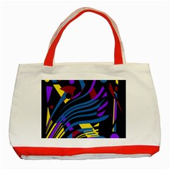Optimistic abstraction Classic Tote Bag (Red)