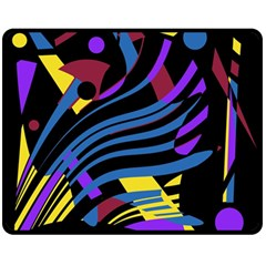 Optimistic abstraction Double Sided Fleece Blanket (Medium)